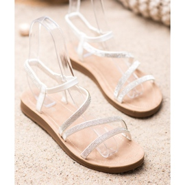 Sea Elves Elegante instap sandalen wit 2
