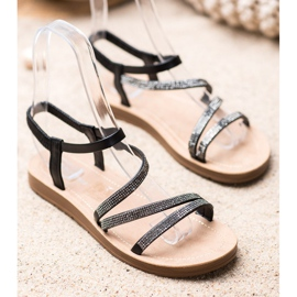 Sea Elves Elegante instap sandalen zwart 2