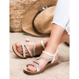 Sea Elves Elegante instap sandalen wit 1