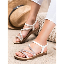 Sea Elves Elegante instap sandalen wit 3