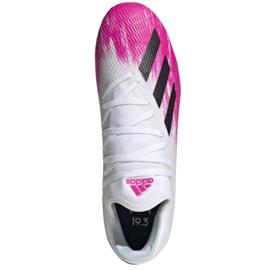 Adidas X 19.3 Fg M EG7132 voetbalschoenen wit rood 2