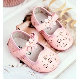 Apawwa Kinder Flats Velcro Bloem Roze Flored 2