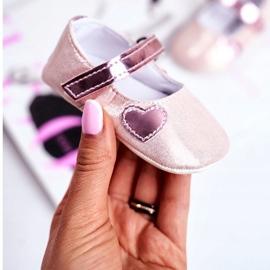 Apawwa Baby sneakers Velcro doop roze Bellawa 2