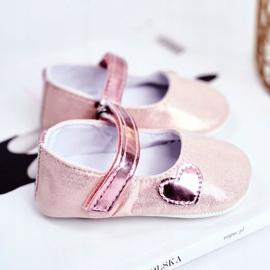 Apawwa Baby sneakers Velcro doop roze Bellawa 3