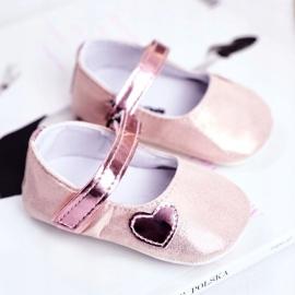 Apawwa Baby sneakers Velcro doop roze Bellawa 1