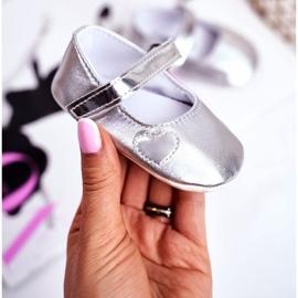 Apawwa Baptism Baby Velcro Sneakers Bellawa Zilver grijs 1