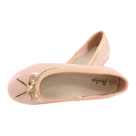 American Club Gelakte Amerikaanse ballerina's 14297 roze geel 4