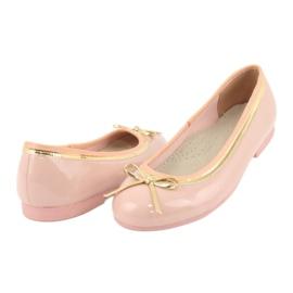 American Club Gelakte Amerikaanse ballerina's 14297 roze geel 3