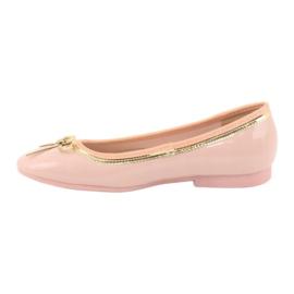 American Club Gelakte Amerikaanse ballerina's 14297 roze geel 1