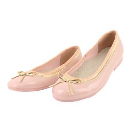 American Club Gelakte Amerikaanse ballerina's 14297 roze geel 2