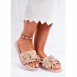 SEA Dames Pantoffels Met Strik Beige Thailand bruin 1