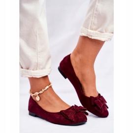 SEA Jordos ballerina's voor dames rood 2