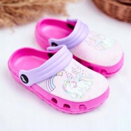 Slippers voor kinderen Foam Crocs Pink Ponies Pony roze 1