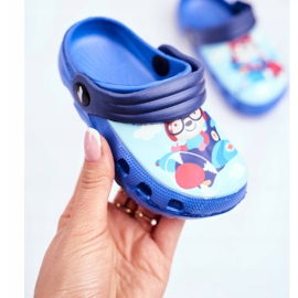 Kinderpantoffels Foam Crocs Blue Bear Pilot SuperFly blauw 3