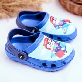 Kinderpantoffels Foam Crocs Blue Bear Pilot SuperFly blauw 2