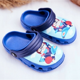 Kinderpantoffels Foam Crocs Blue Bear Pilot SuperFly blauw 1