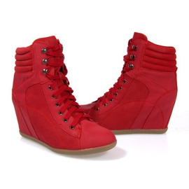 Sneakers Boots On Wedge 562 Rood 1
