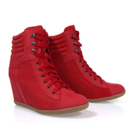 Sneakers Boots On Wedge 562 Rood 2