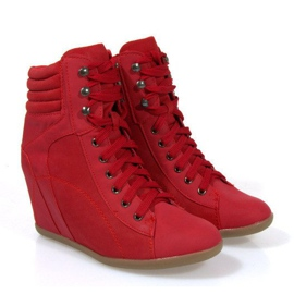 Sneakers Boots On Wedge 562 Rood 3