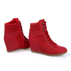 Sneakers Boots On Wedge 562 Rood 4