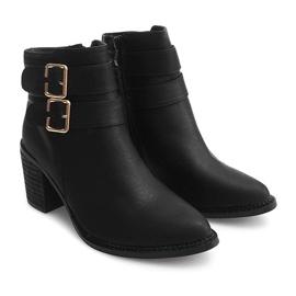 Boots On Heel F026 Zwart 1