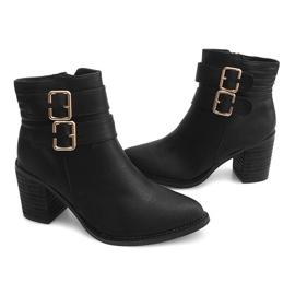 Boots On Heel F026 Zwart 2