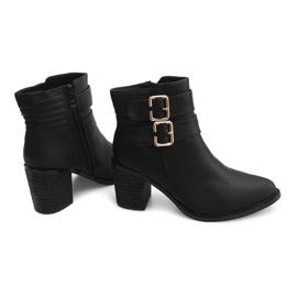 Boots On Heel F026 Zwart 3