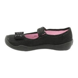 Befado schoenen voor kinderen schoenen ballerina 114x240 zwart zilver 1