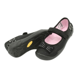 Befado schoenen voor kinderen schoenen ballerina 114x240 zwart zilver 3