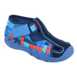 Befado kinderschoenen 190P095 rood marineblauw blauw 1