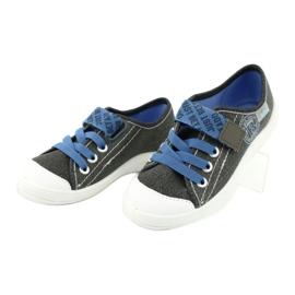 Befado kinderschoenen 251X129 blauw grijs 3