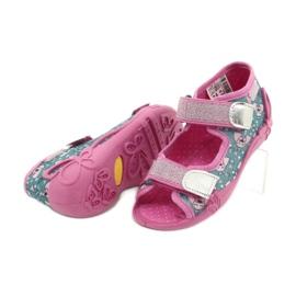 Befado kinderschoenen 242P107 roze zilver veelkleurig 4