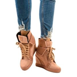 Roze sneakers met veterschoenen B12-22 1