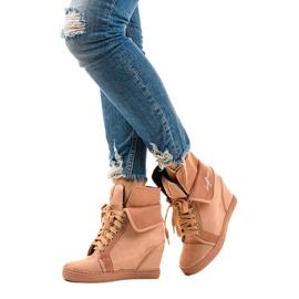 Roze sneakers met veterschoenen B12-22 2