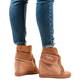Roze sneakers met veterschoenen B12-22 3