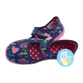 Befado kinderschoenen 945Y431 marineblauw roze veelkleurig geel 5