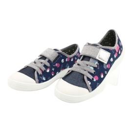 Befado kinderschoenen 251Y149 marineblauw roze zilver grijs 3