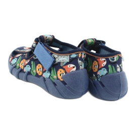 Befado kinderschoenen 190P101 marineblauw blauw veelkleurig groente 5
