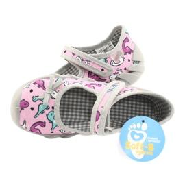 Befado kinderschoenen 109P205 roze zilver grijs 5
