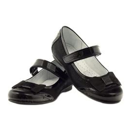 Ballerinas zwart strikleder Ren But 4202 3