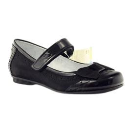 Ballerinas zwart strikleder Ren But 4202 1