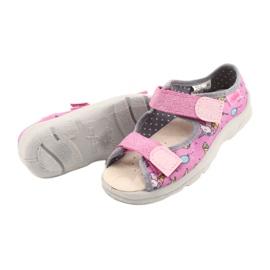Befado kinderschoenen 869X136 roze zilver grijs 4