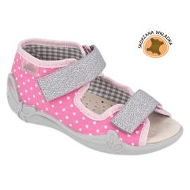 Befado gele kinderschoenen 342P024 roze grijs 1