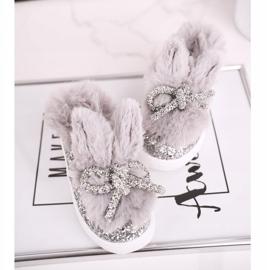 FRROCK Grijze Mumi grijze warme kindersneakers zilver grijs 2