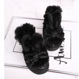 FRROCK Zwarte Mumi Warm-sneakers voor kinderen 2