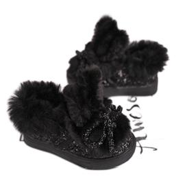 FRROCK Zwarte Mumi Warm-sneakers voor kinderen 3