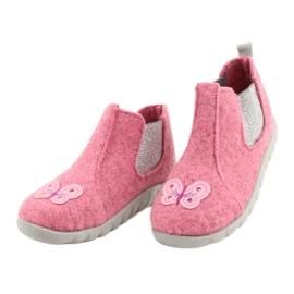 Befado kinderschoenen 546P024 roze zilver 3