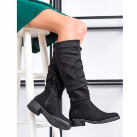 Sweet Shoes Suède laarzen zwart 1