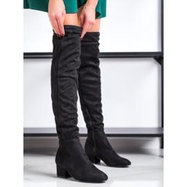Fashion Zwarte dij-hoge laarzen 2