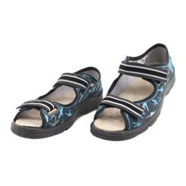 Befado kinderschoenen 869X143 blauw grijs veelkleurig 5